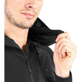 Salomon Grid Sudadera con capucha HZ Hombre, black